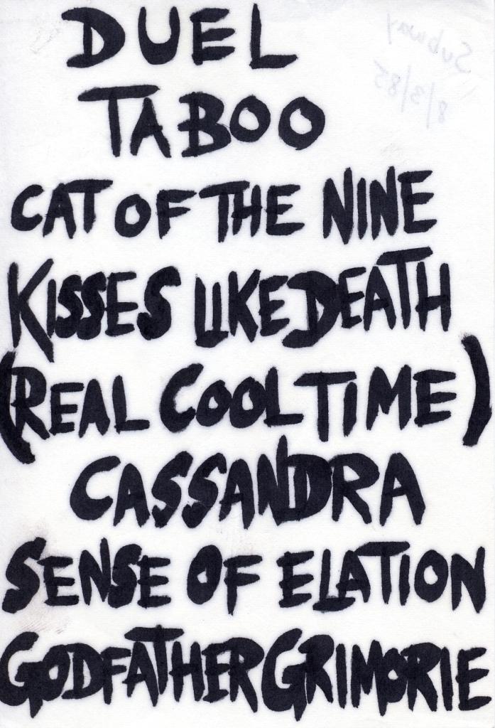 1985-08-03 setlist