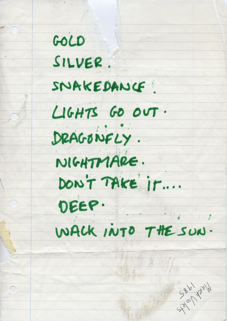 1985-03-02 setlist